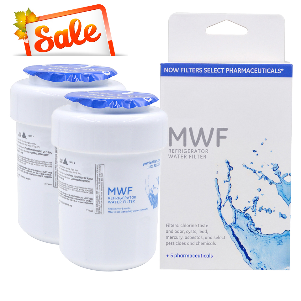 Household Hot Sale! <font><b>Water</b></font> Purifier General Electric MWF <font><b>Refrigerator</b></font> <font><b>Water</b></font> <font><b>Filter</b></font> Cartridge Replacement for GE MWF 2 Pcs/lot