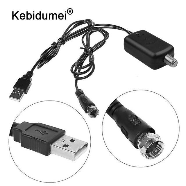 Kebidumei 25dB wewnętrzna cyfrowa antena telewizyjna wzmacniacz sygnału HDTV wzmacniacz sygnału dla DVB-T DVB-T2 ATSC PAL TV Fox antena z USB