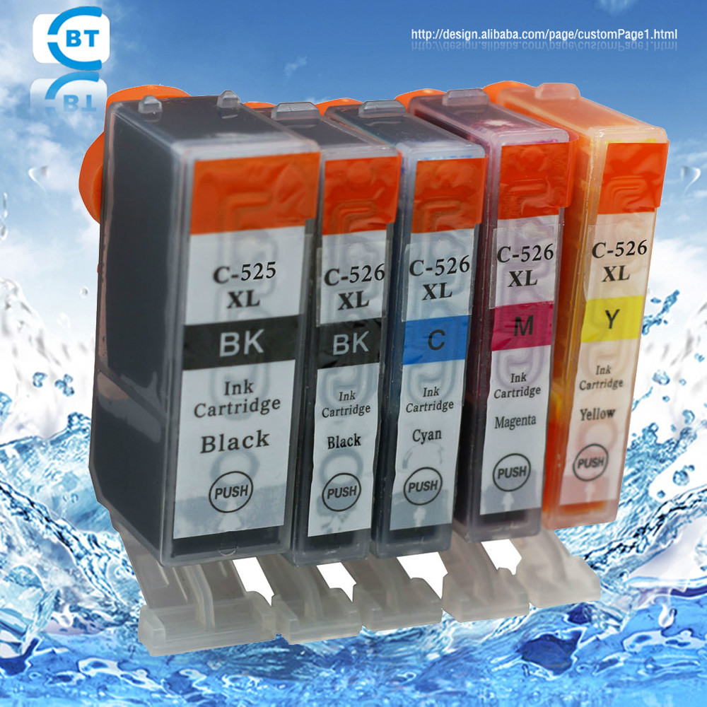 5db kompatibilis kánon MX884 MX885 IP4850 IP4950 IX6550 MG5150 MG5250 MG5350 nyomtató tintapatron pgi525pgbk cli526