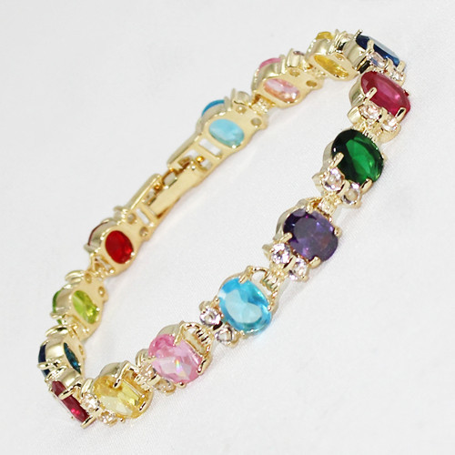 fast shipping Fine Jewelry Mixed colour Crystal Bracelet