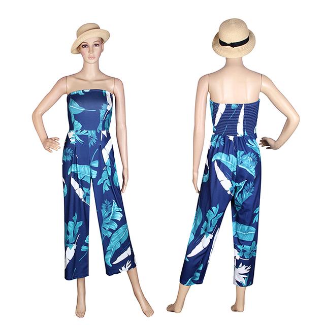 2017 Sexy Women Jumpsuit Off Shoulder Fashion Slash Neck Summer Bodysuit Combinaison Femme Beach Rompers Womens Jumpsuit WS390C