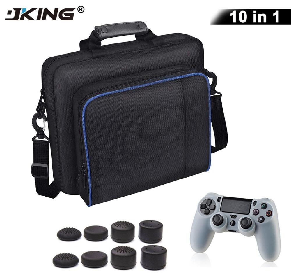 10 in 1 PS4 / PS4 Pro Slim Game Sytem Bag Original size For PlayStation 4 Console Protect Shoulder Carry Bag Handbag Canvas Case