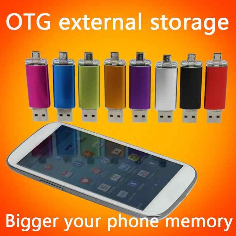 Smart Phone USB Flash Drive 1 TB 2 TB Pen Drive 8 GB 16 GB 32 GB 64 GB 128 GB Flashdisk OTG Penyimpanan Eksternal USB Memory Stick Hadiah