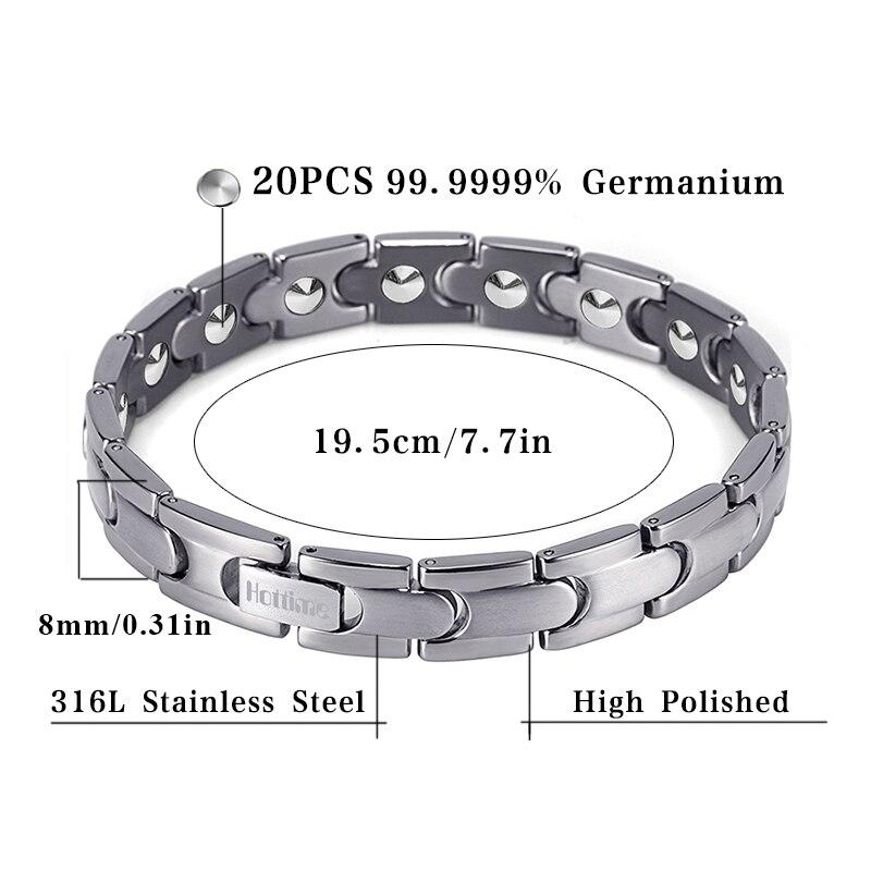 Hottime Bio Magnetic Health Care Bracelet Full 99 99 Germanium Bracelet For Women S Fashion Stainless