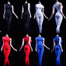 1/6 sexy girl figure clothing VSTOYS 19XG38 Tights Black White Bodysuit Clothing F 12 Female TBLeague large bust Seamless Body
