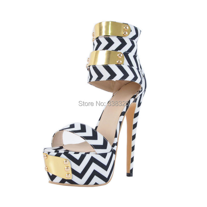 2d517ed5f1e US $59.0  ZKshoes 2015 new fashion women's Gladiator high heels with  glitter hand make shoes big size 35 44-in Women's Sandals from Shoes on ...