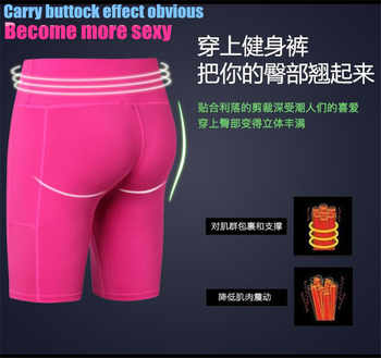 200p Women&Girls Shapers Exercise 3D Tight Fitness Knee Length Pants Quick-dry Wicking High Elastic Slim Compression Half Pants