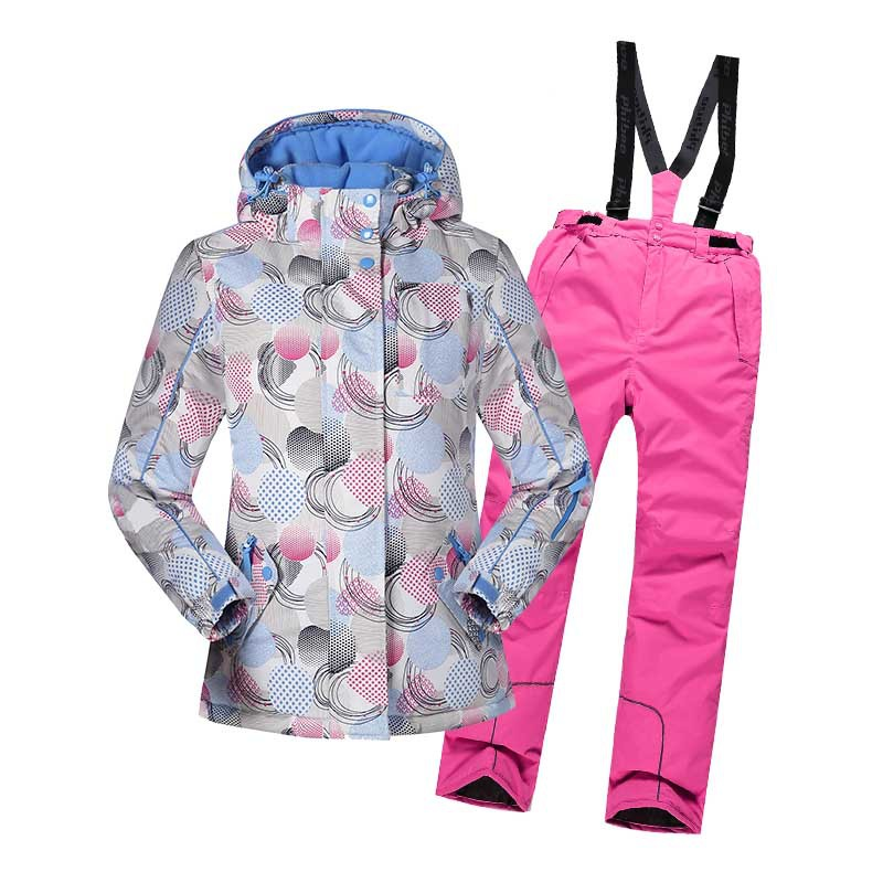 Girls Boys Waterproof Ski Suit Kids Ski Jacket and Children Pants Snow Windproof Warmth Thickened Winter Clothes -30 Degree 1pcs free shipping 2015 new autumn and winter tot solid color knitting wool hat boys girls ski cap children skullies beanies