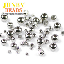 JHNBY 200pcs Stainless steel Spacer beads ball 3/4/6/8MM Gear Metal Round Loose beads for Jewelry bracelets making DIY Findings btfbes 200pcs stainless steel 3 4 5 6 8mm spacer beads round ball metal loose beads for jewelry bracelet making diy accessories