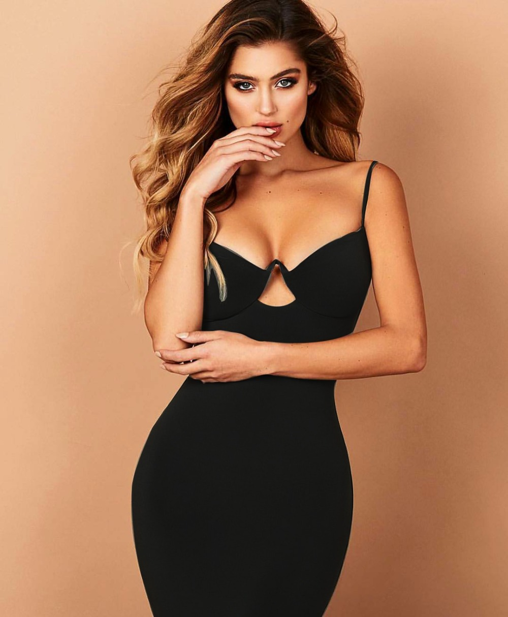 New Summer Fashion Sexy Strap Black Red Women Bandage Dress 2020 Celebrity DesignerBodycon Evening Party Dress Vestido 5