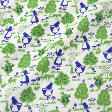 50 см * 108 см Японский Kokka DIY Лоскутная Лоскутное Ткань Двойной Марля Хлопчатобумажная Ткань Алиса Шаблон Зеленый(China (Mainland))