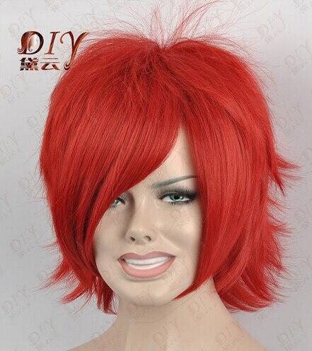 Peruca cheveux reine cosplay dd002173 Sexy Droites Courtes Femmes Rouge  Perruque Chaleur Cos Party Cheveux Complet 6ed46c1c160d