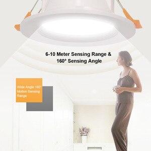 LED Downlight 3-inch 7W Round Recessed Lamp 85V-265V Led Bulb Bedroom Kitchen Indoor LED Spot LED Motion Sensor Downlight(China)