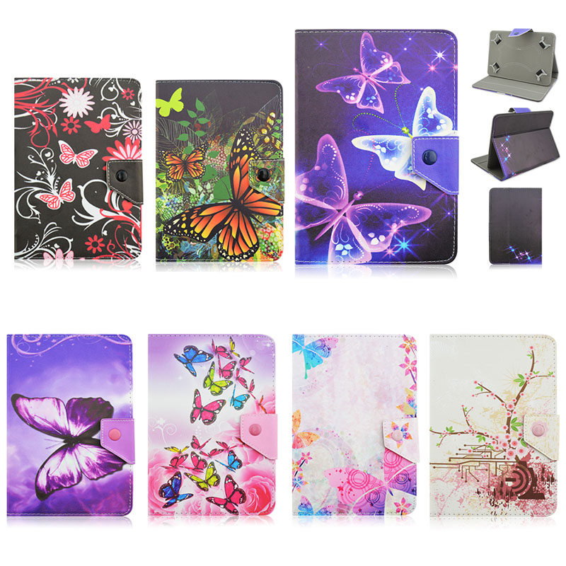 Butterfly PU Leather Stand Cover Case For CHUWI V17HD 3G/VX1/VX2 7 inch Universal Tablet cases for ASUS ZenPad 7.0 Z370 Y4A92D 7 pu leather magnetic cover case for trekstor surftab ventos 7 0 hd 7 0 8g 7 0 hd 8g 7 inch universal tablet cases s2c43d
