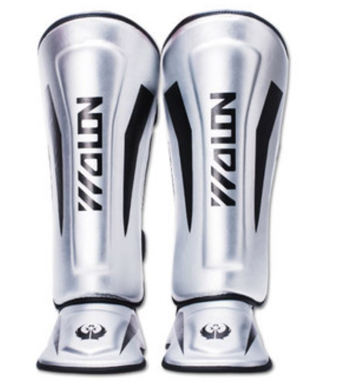 2pc/lot Boxing Taekwondo shin protector One piece leg guard & instep protector PU Leather 4 size selection for kids and adult