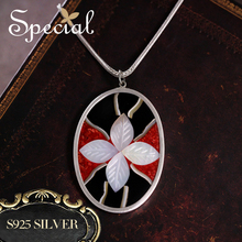 Special Brand Fashion 925 Sterling Silver Maxi Necklace Enamel Necklaces Pendants Sea Shell New Jewelry Gifts for Women S1648N
