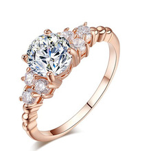 New Fashion Hot Luxury Carving Filigree Band CZ Zircon Wedding Ring Sets For Women Best Gift Jewelry Wholesale