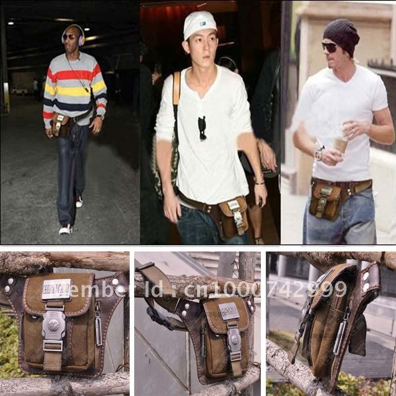 New Vintage Coffee Y Canvas Men Waist Pack Bag S Belt Bags Free Shipping In Costumes From Novelty