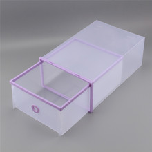 Purple Foldable Plastic Storage Drawer Container Organizer Case Shoe Box A