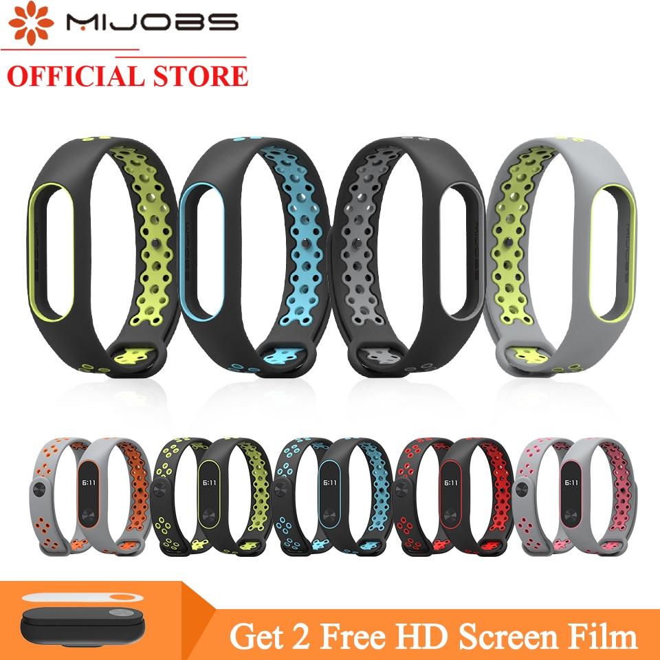 где купить Mijobs for Xiaomi Mi Band 2 Strap Miband 2 Bracelet Sport Wristband Replacement Smart Band Accessories For Mi Band 2 Silicone по лучшей цене