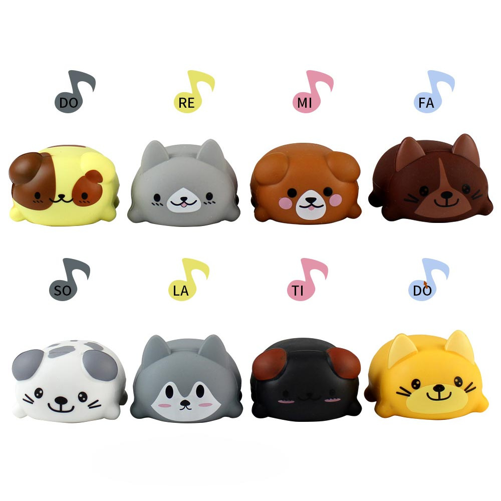 8Pcs Set Music Puppy Singing Dog Music Electronic Dog Cat Educational Toys for Children Kids Birthday