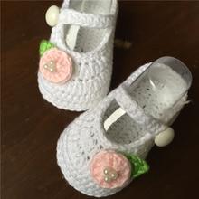 Hecho a mano de hilo de punto zapatos de bebé suaves únicos zapatos zapatos de niño zapatos de bebé