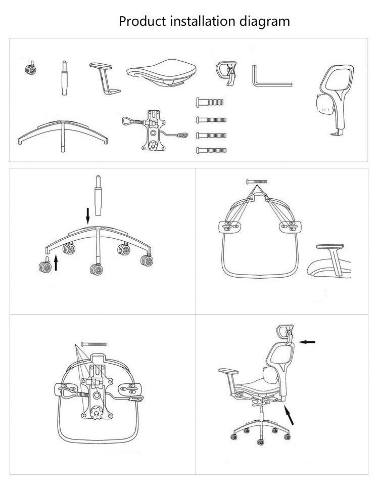 diagram of pneumatic office chair data wiring ergonomics mesh cloth waistguard multifunction computer high quality boss soft swivel heighten backrest lying lifting seat leisure with footrest chairusd 403 72 piece