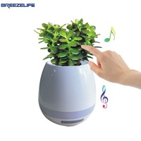 Breezelife Smart Speaker Smart Bluetooth Flowerpot Smart Touch Sensor Home Singing Plant Led Light For Xiaomi