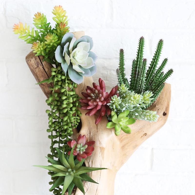 Зеленые Мини бонсай Искусственные суккуленты растения для дома и сада украшения поддельные растения 39 стилей забрать DIY plante artificielle|Искусственные растения|   | АлиЭкспресс - Декор