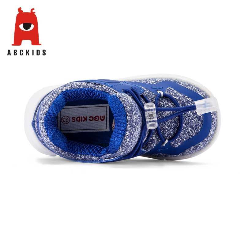 ABC เด็ก 2-4T เด็กชายหญิง Breathable Anti-SLIP รองเท้ารองเท้าผ้าใบเด็กวัยหัดเดิน Soft Soled
