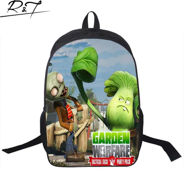Hot Cool Fashion Schoolbags Children Popular Games Plants vs Zombies Characters Printing Backpack Boys Book Bags Gifts For Kids
