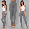 Mujer pantalones capris más tamaño pantalones lápiz caliente pantalones casuales de cintura alta pantalones femeninos elásticos de Otoño Invierno polainas Flacas