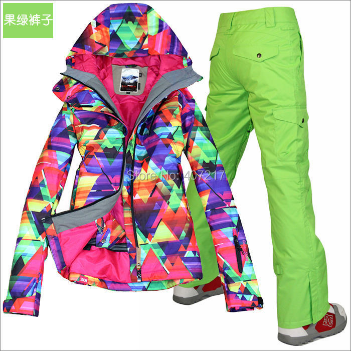 2016 hot womens waterproof ski suit ladies snowboarding suit skiwear - Sportswear and Accessories - Photo 5