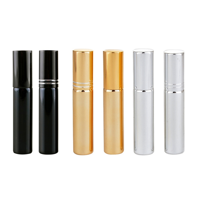 New Portable Mini Gold Plating Travel Perfume Atomizer Dispenser Spray Bottles Perfume Cosmetic Containers Beauty Gifts perfume