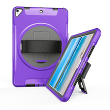 Case for iPad Pro 10.5 Tablet 360 Degree Rotating Leather Hand Strap and Kickstand Heavy Duty Shockproof Cover FTL01