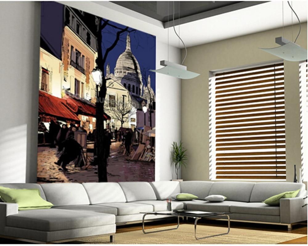 Bande Papier Peint Salon €10.91 51% de réduction|papier peint d'art personnalisé, montmartre en  hiver, 3d peintures murales rétro de bande dessinée pour salon chambre  cuisine