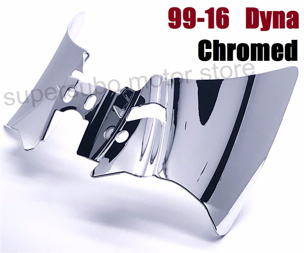 Motorcycle Chromed Saddle Shield Heat Deflector cover For Harley Dyna FXD FXDWG 1999-2016 01-16 4pcs set smoke sun rain visor vent window deflector shield guard shade for cadillac xt5 2016 2017