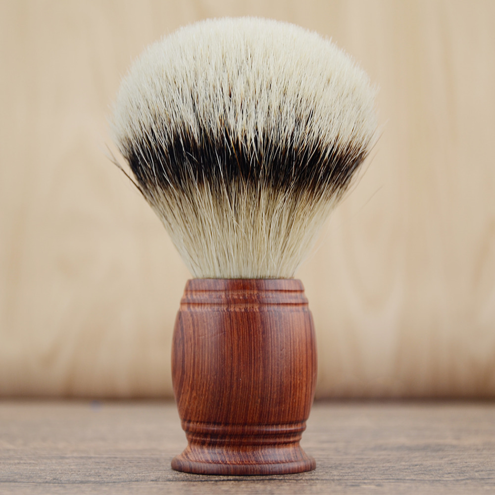 ZY HUGE SILVERTIP Badger Hair Shaving Beard Brush Rosewood Handle Men Shave Beard Barber Razor Brush Best Gift titan razor brush shaving brush with wooden handle best badger hair brush