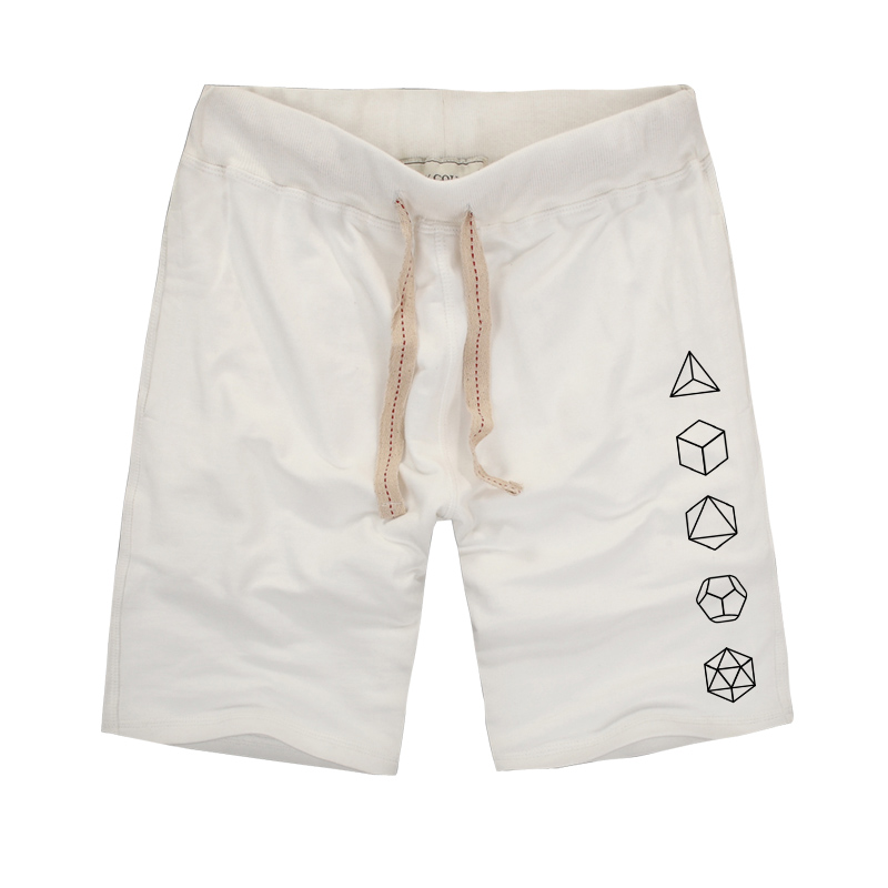 Platonic Sacred Geometry Evolution Printed Creative Men Shorts