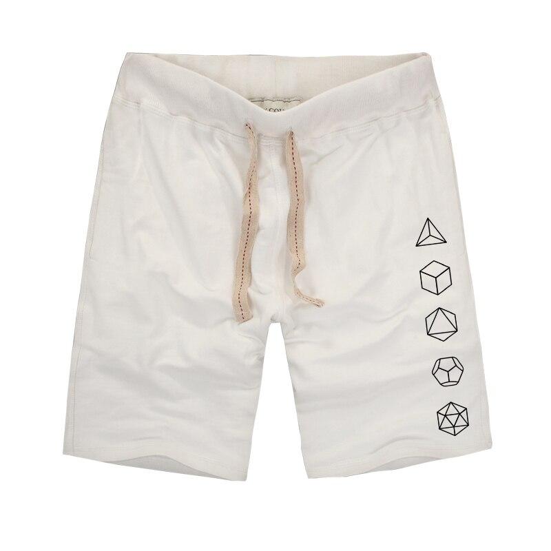 Platonic Sacred Geometry Evolution Printed Creative Men Shorts 2018 Summer Bermuda Masculina Beach Shorts Joggers Short Trousers