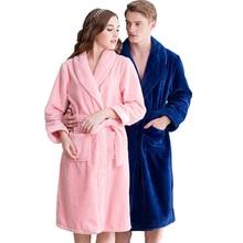 Hot Sale Lovers Silk Flannel Warm Long font b Bathrobe b font font b Women b