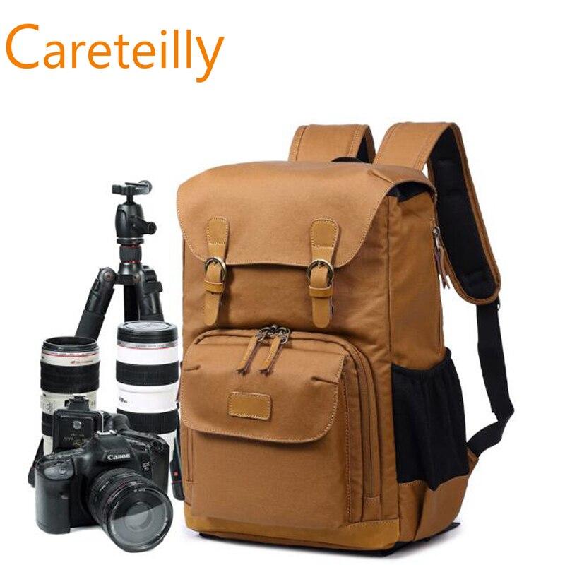 Fashion Canvas DSLR SLR Camera Case Backpack Rucksack Bag yingnuost f04 multi functional dslr slr camera bag canvas case shoulders backpack 43x33x16 cm