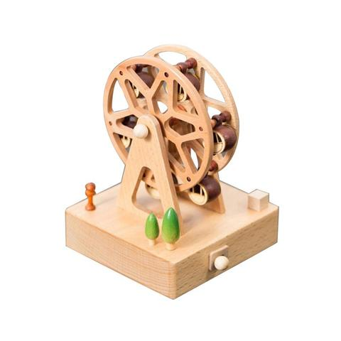 Wooden Music Box Creative Gifts For Kids Musical Carousel Ferris Wheel Boxes Wood Crafts Retro Home Decoration Accessories Multan
