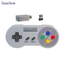 Беспроводные Игровые приставки USB ne/SNES Super 2,4 ГГц джойстика игровой контроллер для nintendo классический консоли удаленные аксессуары