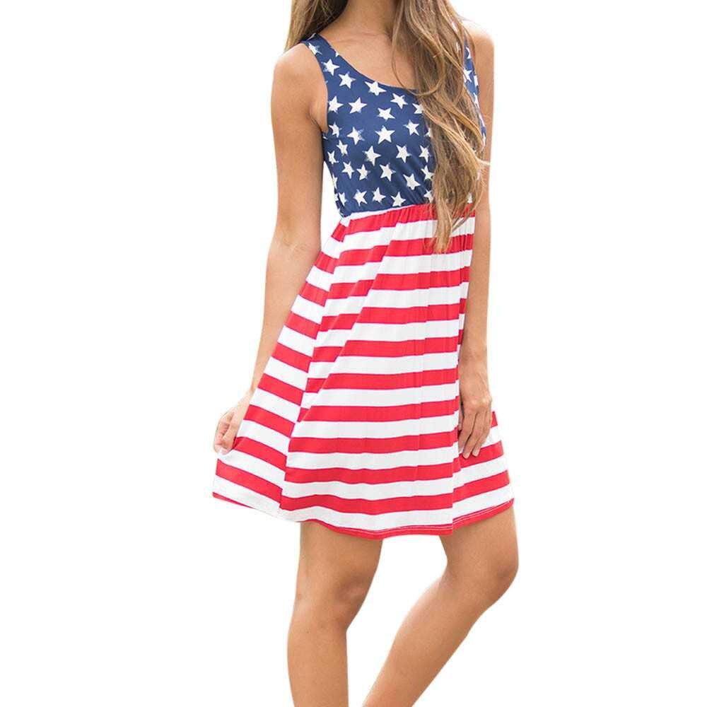 Popular Womens Plus Size American Flag Shirt Dress-Buy Cheap ...