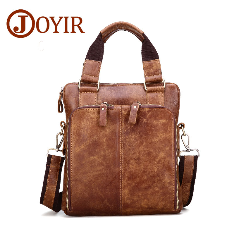 Famous Brand Genuine Leather Small Men Briefcase Business Male Handbag Vintage Leather Crossbody Bags Shoulder Bag Men Gift joost van den vondel de complete werken van joost van vondel 3