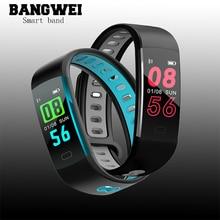 Men Sport Smart Watch Bracelet Blood Pressure Oxygen Heart Rate Monitoring Fitness Tracker smart band Wristband PK mi band 3+Box