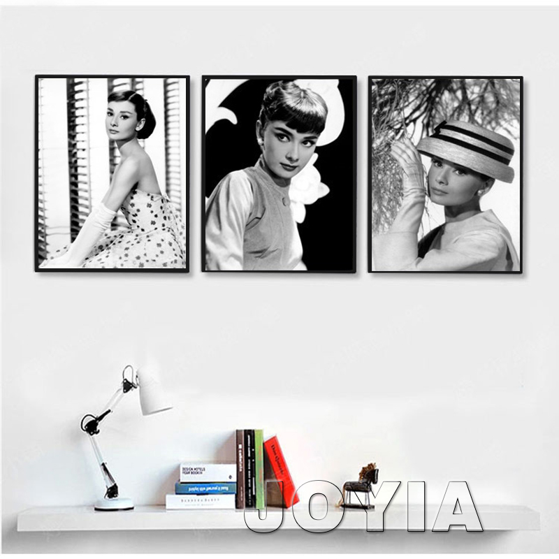 3 unidades pared Audrey Hepburn pintura Pictures Movie estrella ...