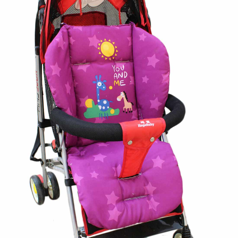 Purple Red Blue Baby Stroller Cushion Child Cart Seat