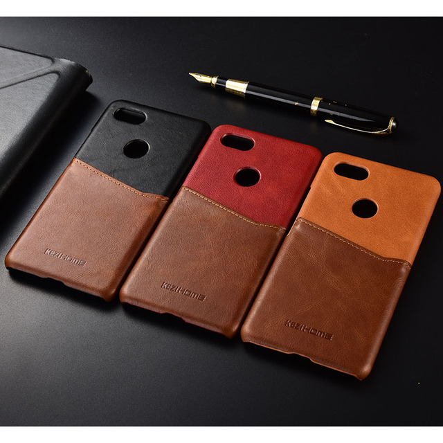 pretty nice a13de 5f5bf US $9.98  For Google Pixel 3 /3 XL Genuine Leather Skin Color Business Slim  Wallet Card Slot Back Hard Case Cover-in Fitted Cases from Cellphones & ...